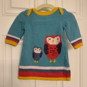 Baby Boden owl sweater